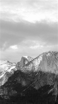 Dark Grayscale Mountains Forest Landscape iPhone wallpaper
