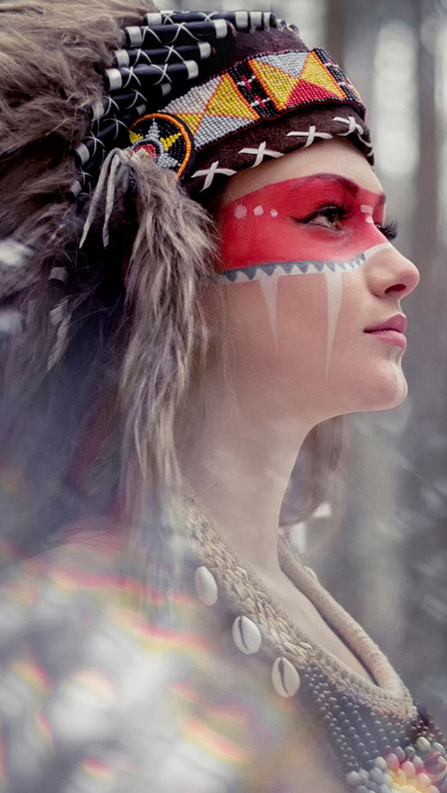 Tribal Beauty Photography iPhone wallpaper