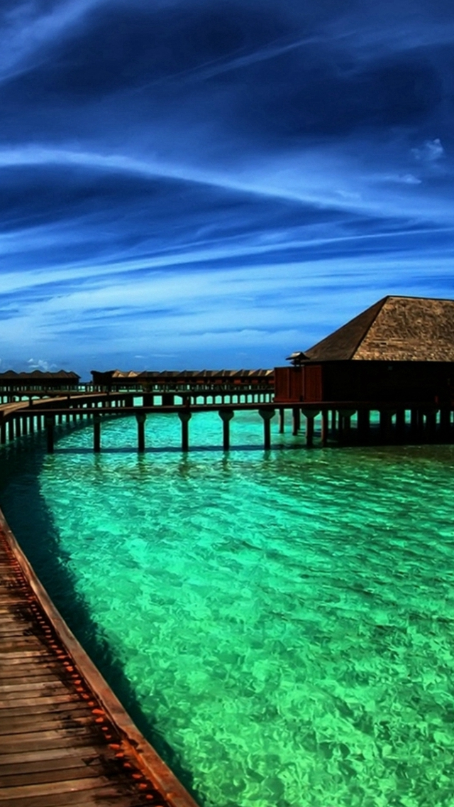 Fantasy Fairy Maldives Scenery Iphone Wallpapers Free Download