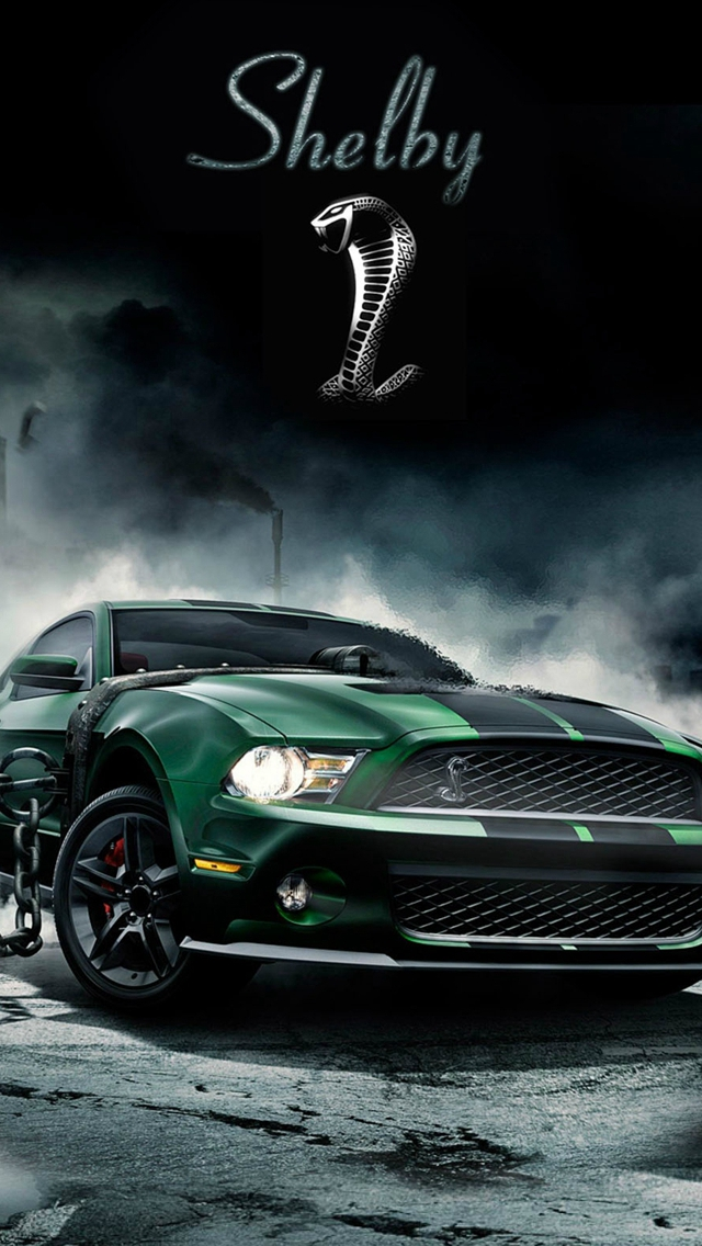 Shelby Cobra Muscle Car iPhone wallpaper