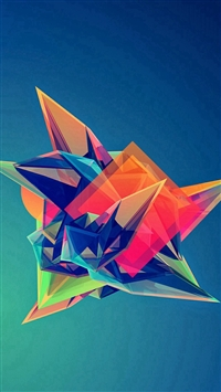 Colorful Cool Abstract Polygonal Shape iPhone 5s wallpaper