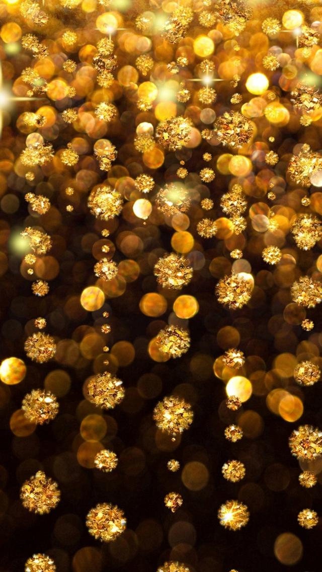 Gold Rain Shine Holiday Background Flicker Glow Jewelry