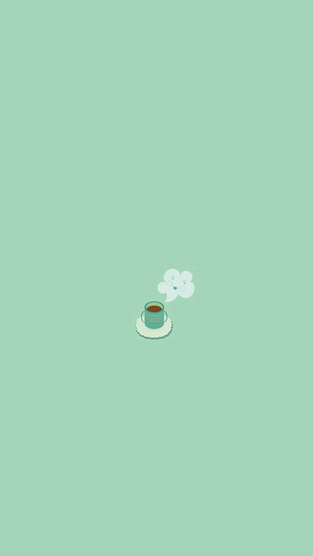 Simple Coffee Mug Flat Illustration iPhone wallpaper
