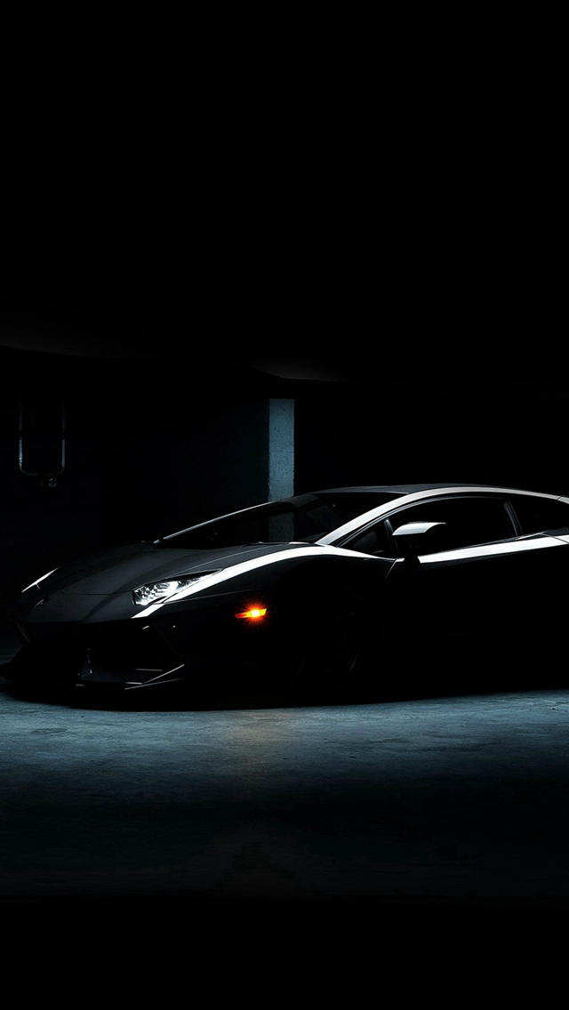 Lamborghini Car Dark Black Awesome iPhone wallpaper
