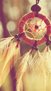 Dreamcatcher Feathers Closeup iPhone 5s wallpaper