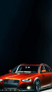 Slammed Audi A4 Allroad iPhone 5s wallpaper