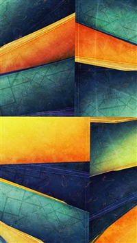 Colorful Cube Lines Corner iPhone 5s wallpaper