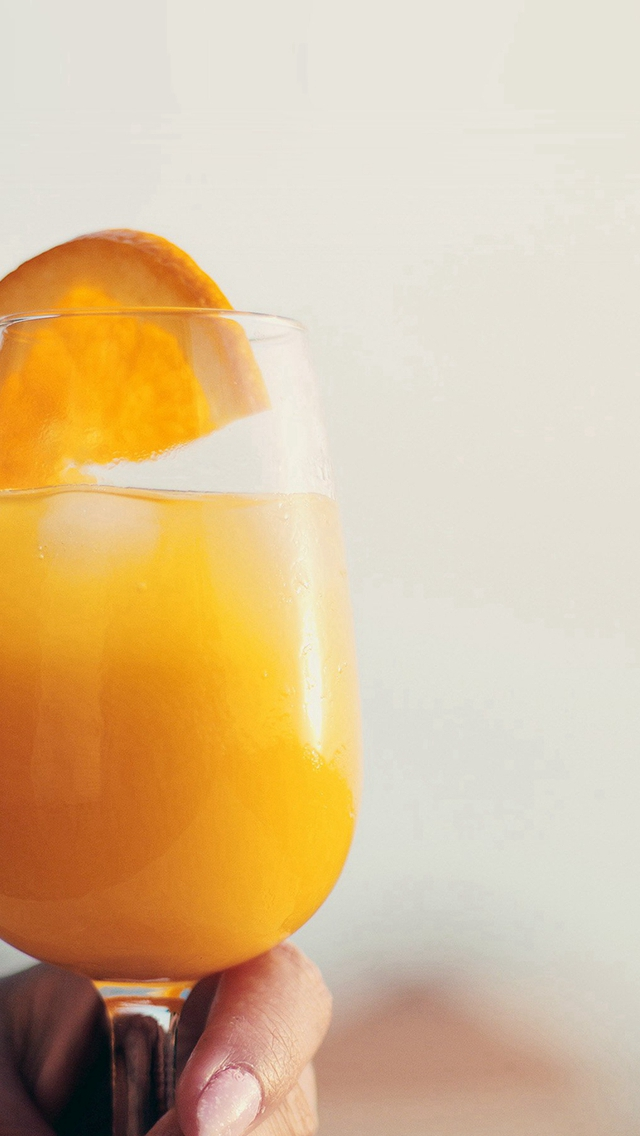 Orange Juice Cocktail Food iPhone wallpaper