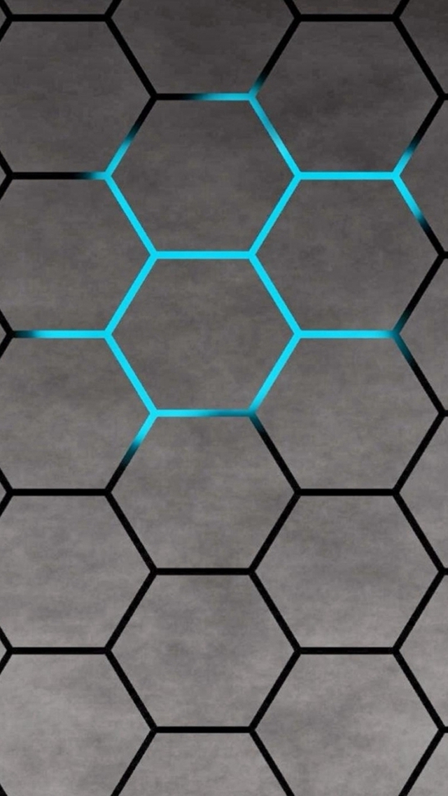 3d Blue Shiny Light Honey Comb Pattern Abstract Background