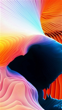 Curve Art Rainbow Pattern iPhone 5s wallpaper