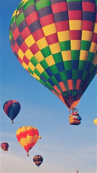 Hot Air Balloon Party Nature Sky iPhone 5s wallpaper