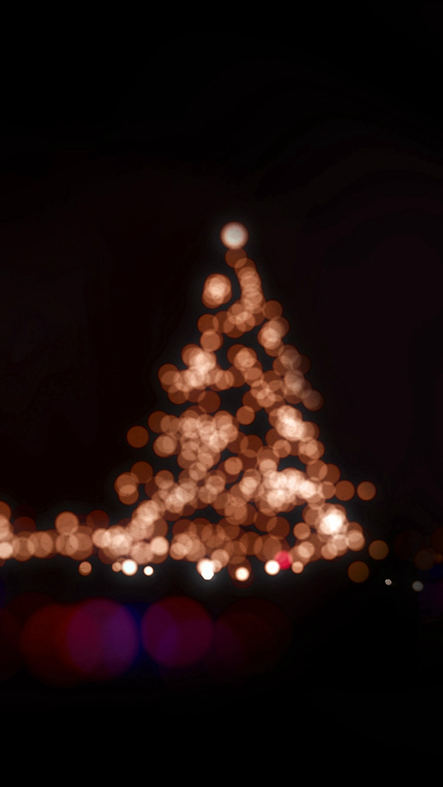 Christmas Lights Bokeh Love Dark Night iPhone wallpaper