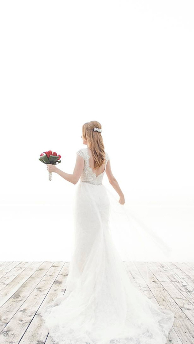 Beautiful Wedding Dress Photography Iphone Wallpapers Free Download