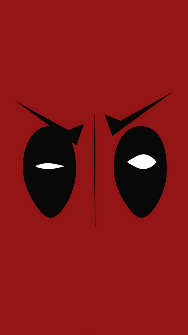 Deadpool Hero Eye Logo Art Film iPhone wallpaper