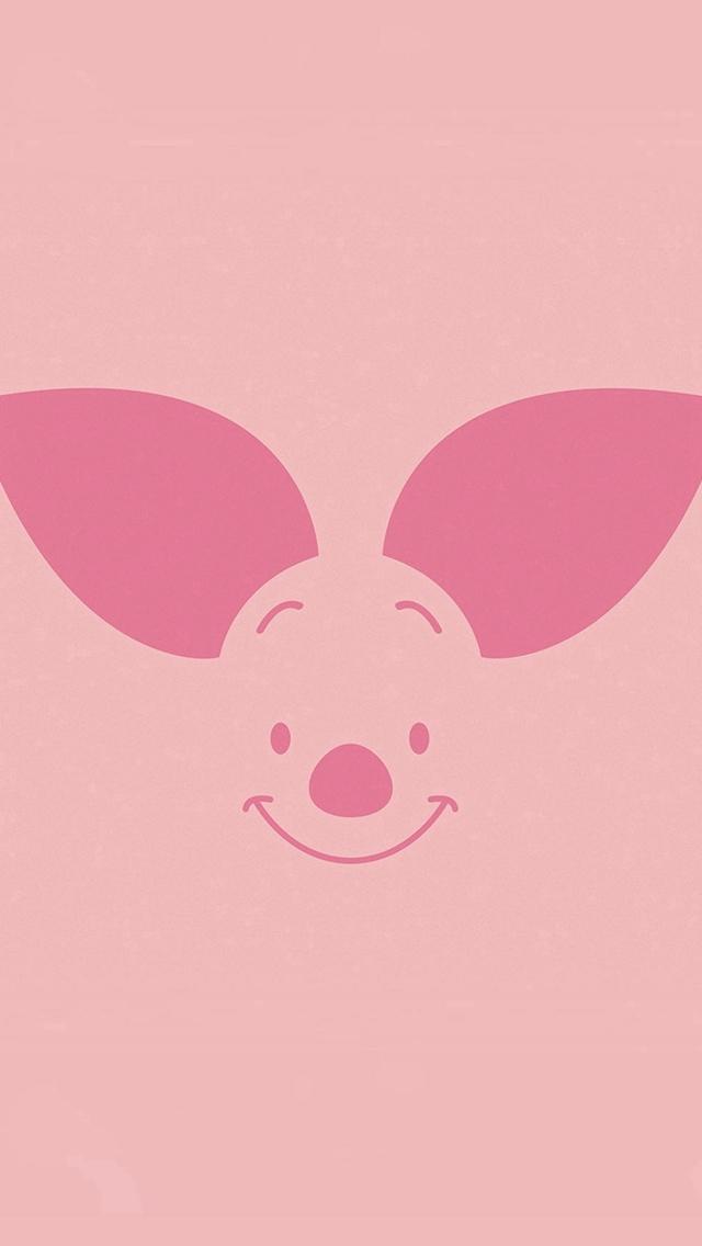 Piglet Illust Minimal Art Cartoon Iphone Wallpapers Free Download
