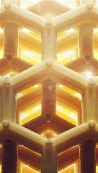 Honey Art Yellow Bee Comb Hive Pattern iPhone 5s wallpaper