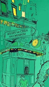 Wax Museum Art Illustration Green Street iPhone 5s wallpaper