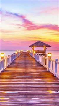 Fury Wonderful Sunset Wooden Bridge Skyscape iPhone 5s wallpaper