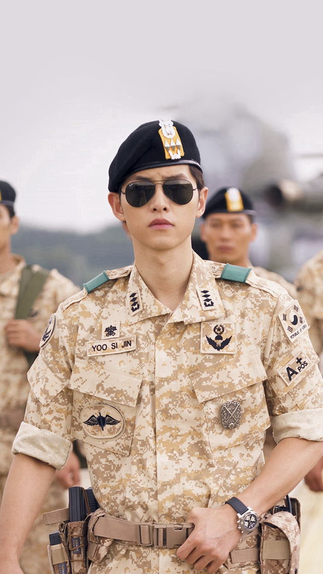 Descendants Of The Sun Heygyo Joonggi Military iPhone wallpaper
