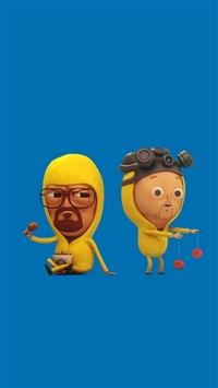 Breaking Bad Blue Illust Cute Show Art iPhone 5s wallpaper