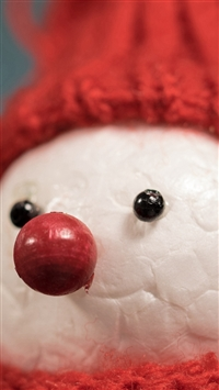 Snowman Hat Figure Scarf iPhone 5s wallpaper