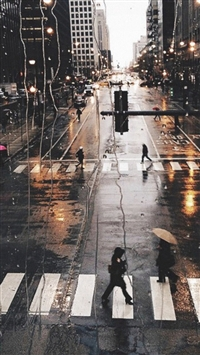 Rainy City View Outside Window Glass Street View iPhone 5s wallpaper