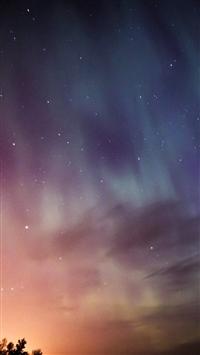 Sky Aurora Night Stars Wonderful iPhone 5s wallpaper