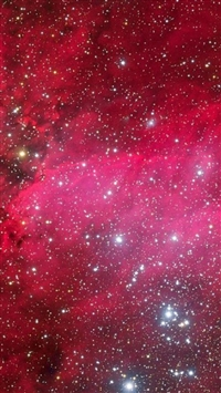 Pink Nebula Outer Space View iPhone 5s wallpaper