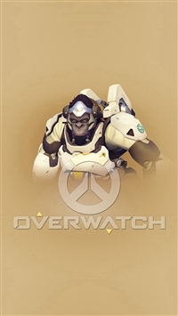 Oerwatch Winston Cute Game Art Illustration iPhone 5s wallpaper