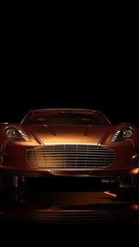 Dark Sportscar Gold Art Illustration iPhone 5s wallpaper