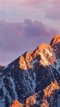 Sunlight Cloudy Skyscape Mountains Scenery iPhone 5s wallpaper