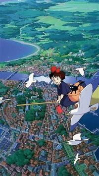 Studio Ghibli Art Illustration Love Anime iPhone 5s wallpaper