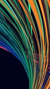 Rainbow Line Vector Art Pattern Blue iPhone 5s wallpaper