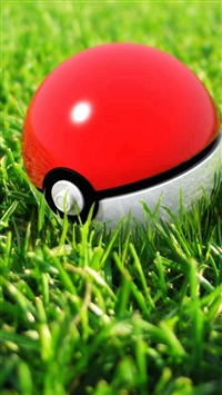 Pokeball In Grass iPhone 5s wallpaper