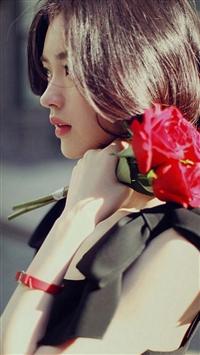 Pure Aesthetic Short hair Beauty iPhone 5s wallpaper