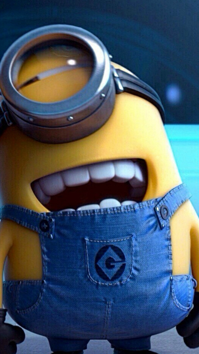 Funny Movie Cartoon Minion iPhone wallpaper