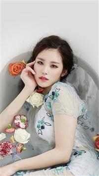 Kpop Artist Jeon Hyosung Secret Beauty Bath iPhone 5s wallpaper