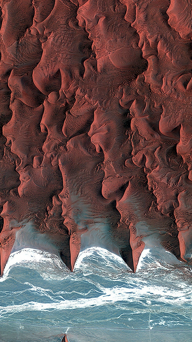 Namib Desert Red Earthview Pattern Iphone Wallpapers Free