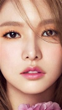 Kpop Girl Flower Cute Pink Red iPhone 5s wallpaper