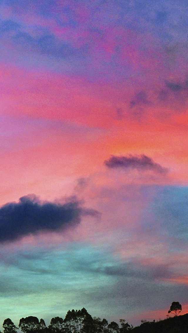 Sky Rainbow Cloud Sunset Nature iPhone wallpaper