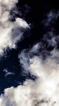 Cloud Dark Blue Sky Nature Summer iPhone 5s wallpaper