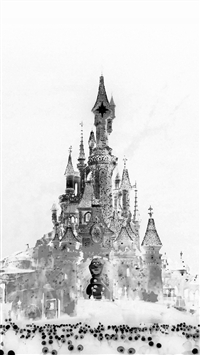 Disney Art Let It Go Snow Illust White iPhone 5s wallpaper