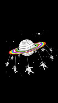 Astronauts Merry Go Round Planet Space iPhone 5s wallpaper