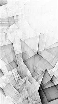 Abstract Bw White Cube Pattern iPhone 5s wallpaper