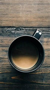 Coffee Cup On Wooden Table iPhone 5s wallpaper