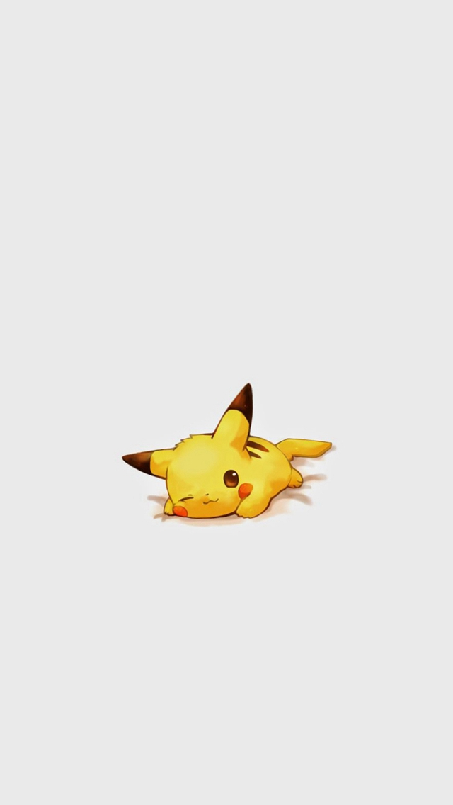Cute Pikachu Pokemon Character iPhone wallpaper