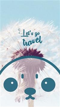Lierature Travel Art Cute Lovely Cartoon Face Dandelion iPhone 5s wallpaper