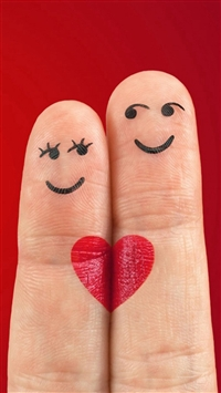 Lovely Love Heart Shaped Fingers Couple iPhone 5s wallpaper