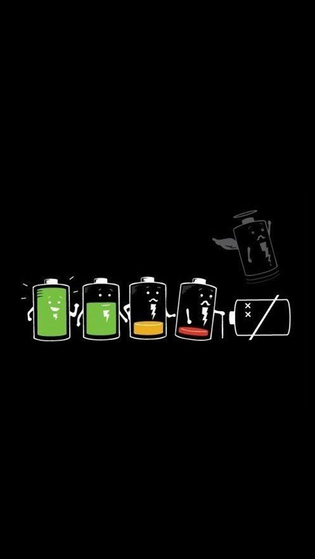 Battery Life Cycle Funny iPhone wallpaper