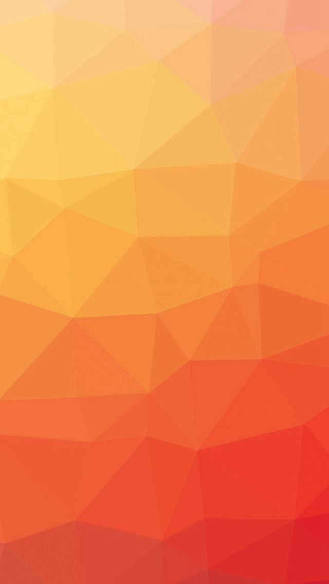 Red And Yellow Polygon Pattern iPhone wallpaper